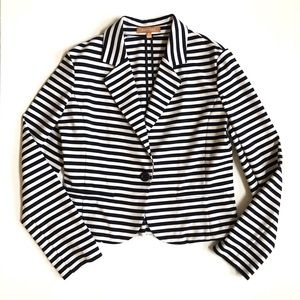 Ellen Tracy striped knit blazer